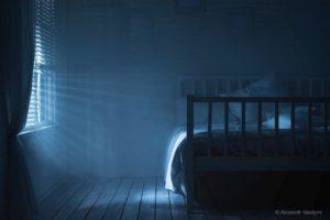 Bedroom with moonlight