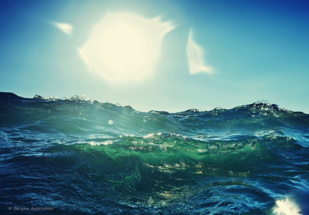 wave in sunlight