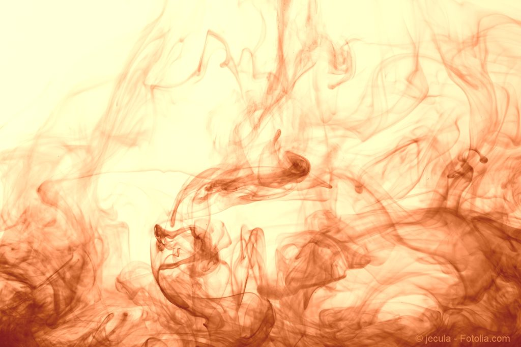 Red. The abstract background. It can be considered as clouds of smoke or ink swirling underwater.