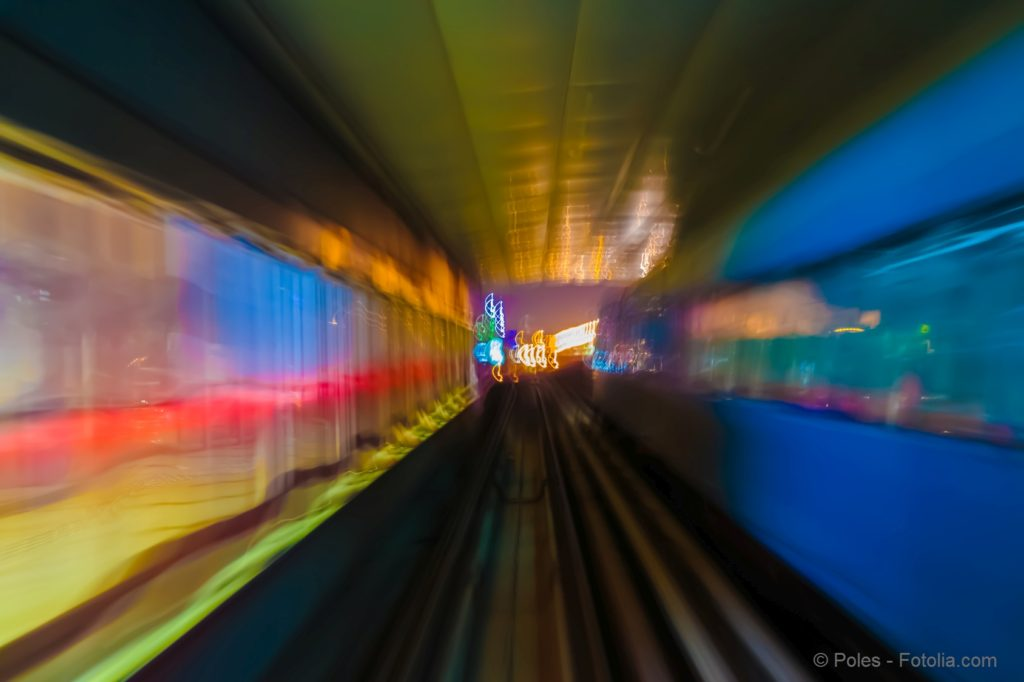 Abstract background metro subway tracks blur