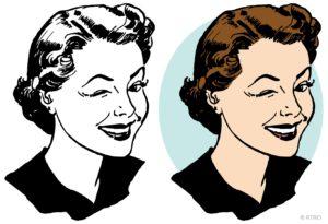 Portrait of a winking woman