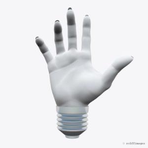 Llight bulb hand