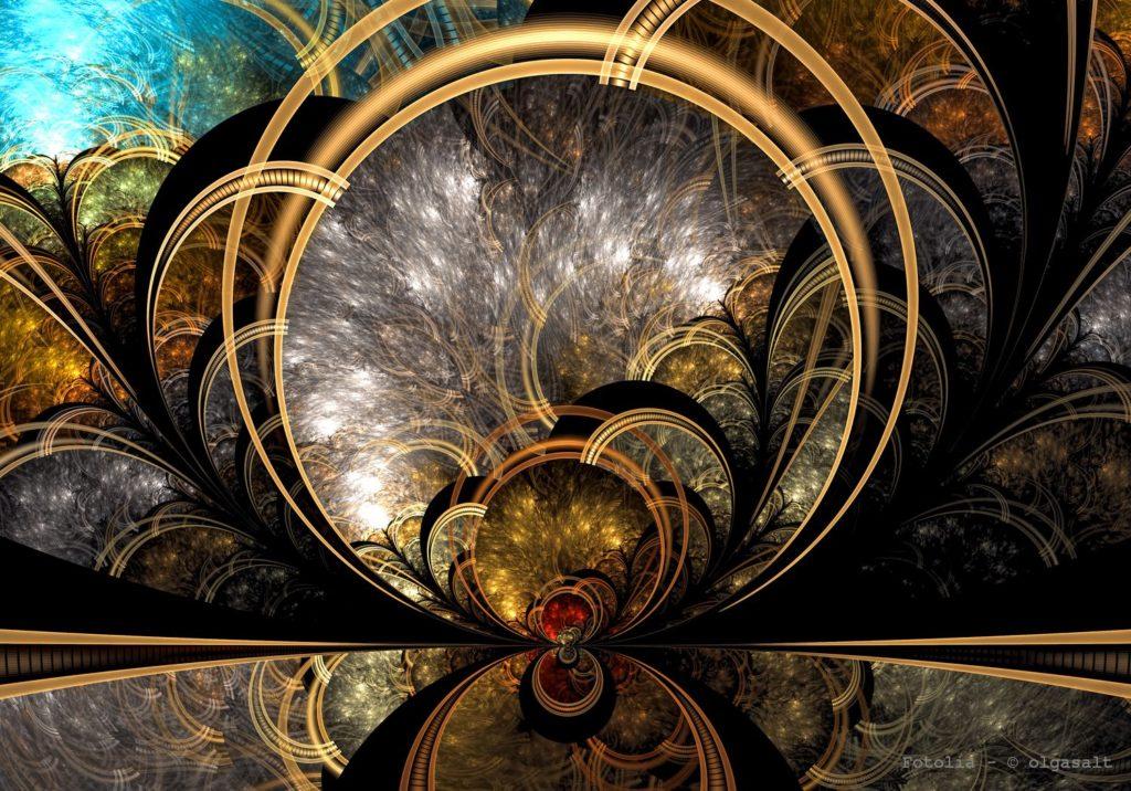 Mystic fractal background
